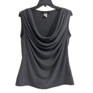 Coco Bianco Gray Women's Sleeveless Top Size Large